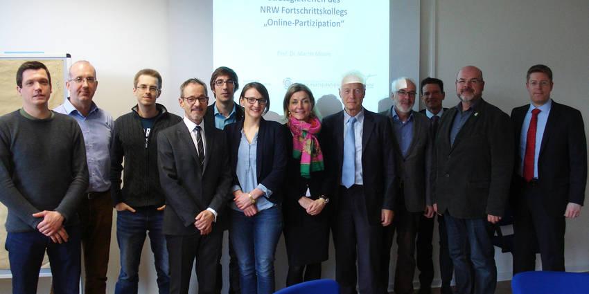 Der Vorstand des Fortschrittskollegs beim Strategietreffen am 27. April 2016 in Gelsenkirchen